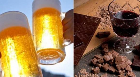Ζουν περισσότερο όσοι απολαμβάνουν μπύρα, κρασί και σοκολάτα