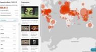 Η Microsoft δημιούργησε ένα νέο διαδραστικό χάρτη για την εξάπλωση του κορωνοϊού